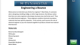 """Each experiment includes a """"steps and materials"""" handout."""