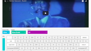 The aQWERTYon (QWERTY accordion) lets you play along with YouTube videos using your keyboard.