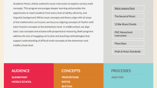 Resources for using traditional music instruction to support math instruction