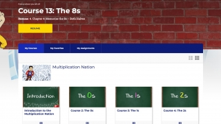The courses page sets the sequence students should follow to get the most out of the program.