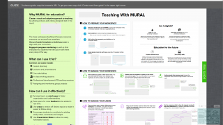 One of the guides specifically covers using MURAL with your teaching.
