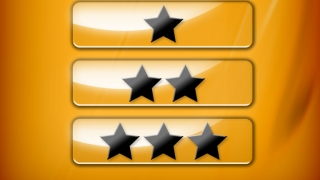Click one, two, or three stars to choose a level.