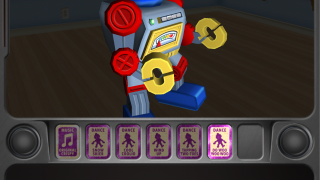Kids get to program the music and moves for a robot dance party after completing their first level of play.