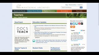 An educators' section provides lesson plan ideas and other additional resources.