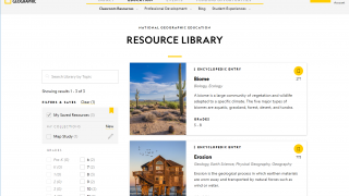 Teachers can bookmark resources and organize them into collections.