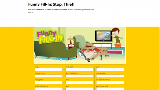 Other types of learning games are also available, such as Funny Fill-Ins.