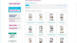 Students can also read the front pages of hundreds of newspapers from around the world.