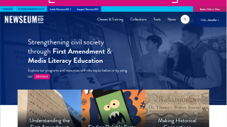 Teachers can create a free account to access the NewseumED section, filled with resource materials.