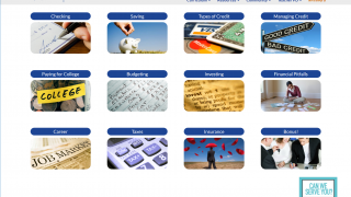 The website covers a variety of personal finance topics.