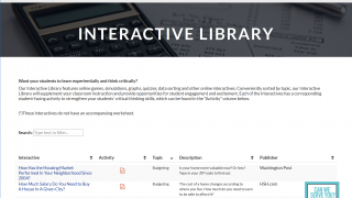 The Interactive Library includes links to quality, curated external resources.