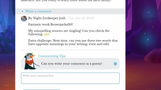 Writing tutors offer specific encouragement and feedback on writing.