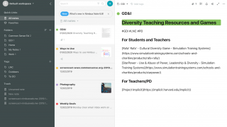 Notes can be tagged, color-coded, and organized into folders for easy searching.