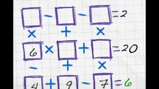 Novice level has four squares pre-filled; difficulty then advances through medium, advanced, expert, and master.