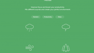 Choose from a preset playlist or select your own sounds.