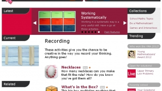 Student homepages include links to live and solved problems, trending topics, and games and interactives.