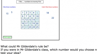 This example problem challenges kids to discover patterns among numbers.
