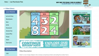 Another video shows place value.