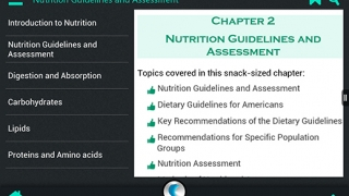 """Information in each chapter is displayed in """"snack-sized"""" portions."""