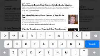 Search features are powerful, allowing users to search by both title and topic.