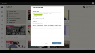 Create lessons and add tags to help you stay organized.