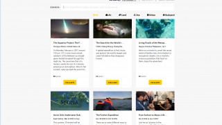 Search for or browse expeditions from all over the world.