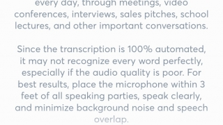 """You can improve the app's accuracy by uploading """"voiceprints"""" of your own voice or other voices you might record frequently."""