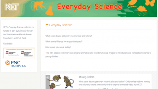 Videos, games, and lesson plans help kids learn about science.