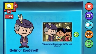 In a game from Xavier Riddle, kids can read about prominent people and create their own hero.