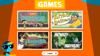 Go to the Games section for mini-games based on PBS KIDS show characters.