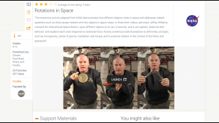 Three video clips show how objects rotate in space.