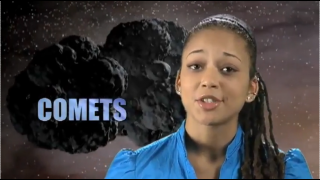 Watch a video about comet research in English or Spanish.