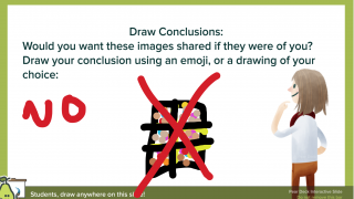 Drawing slides allow for creativity and variety in responses.