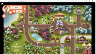 The MyPeekaville game lets kids interact and problem-solve as they move through the community.