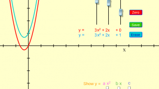 Students can also graph up to two equations at a time for comparison.