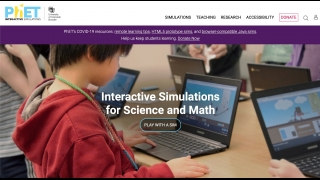 The main PhET website has access to all the simulations and resources.