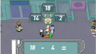 Solve math problems to earn power-ups.