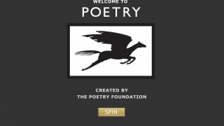 When they open the app, users tap the SPIN button to generate a list of poems that overlap in mood and subject.