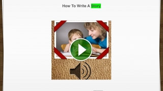 An included story walks you through how to create a story.