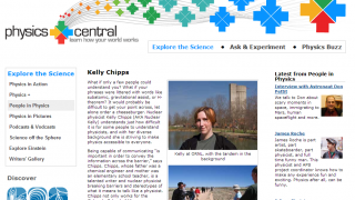 Professionals, like nuclear physicist Kelly Chipps, are featured in the People in Physics section.