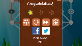 Earn starfish for completing puzzles.