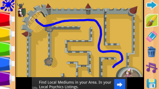 Mazes are sometimes impossible to finish with ads in the way.