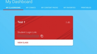 After signing up, teachers access a dashboard where they can create classrooms and browse content.