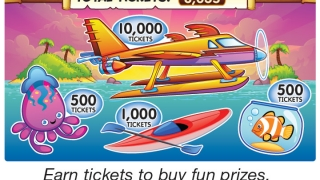 Kids earn points by playing and then use them to purchase virtual prizes.