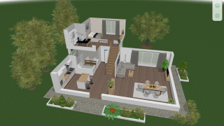 Add landscape options to exterior areas.