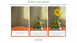 The Activity option allows students to grow their own plant over a period of five days.