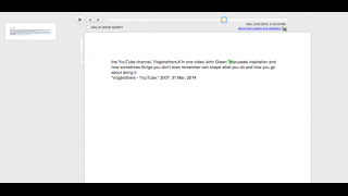 Users can play back a document at the actual speed at which it was written or at double speed.