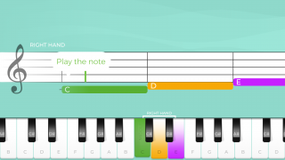The play screen is easy to follow, whether you can read standard musical notation or not.