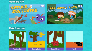 Cartoons, games, and lesson plans aid investigations.