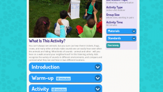 Lesson plans help groups of students explore their world.