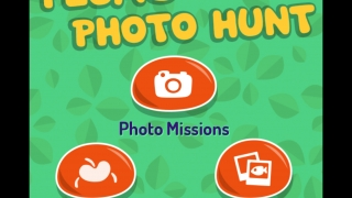 Scroll through photo missions, choose a photobomb character to insert in your photo, or pick a photo you've already taken to send to the Plum Landing website.